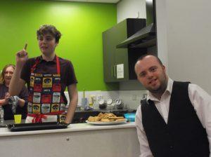 Joshua and Corey ready to serve us!
